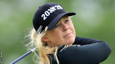 Stephanie Meadow: Northern Ireland golfer falls back after 77 in Portland LPGA event