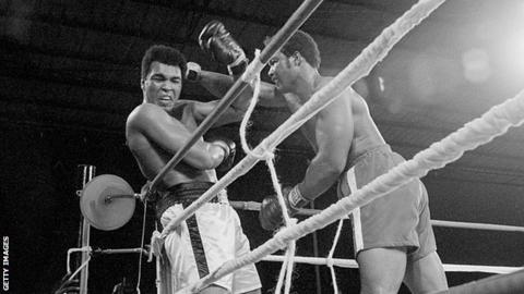 Muhammad Ali and George Foreman in Kinshasa in 1974
