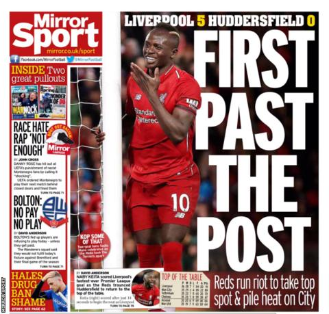 Saturday's Mirror Sport