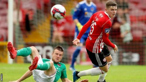Derry were 2-0 down at half-time to Cork before eventually losing 5-0
