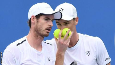 Brothers Andy and Jamie Murray