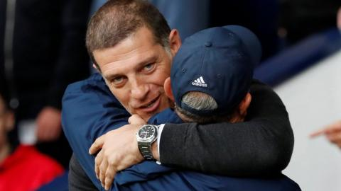 Slaven Bilic embraces Tony Pulis