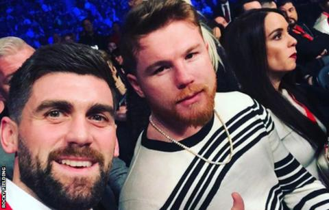 Fielding took his selfie with Alvarez at a boxing event in November of 2017