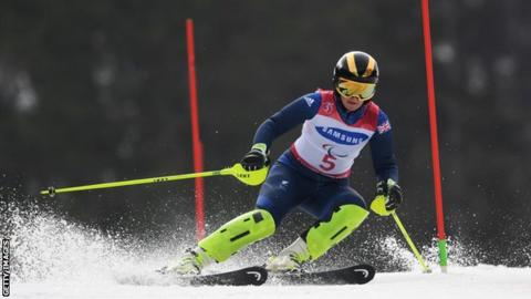 Millie Knight at the 2018 Paralympics