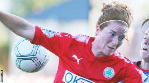 Marissa Callaghan grabbed a hat-trick in Cliftonville Ladies' opening game
