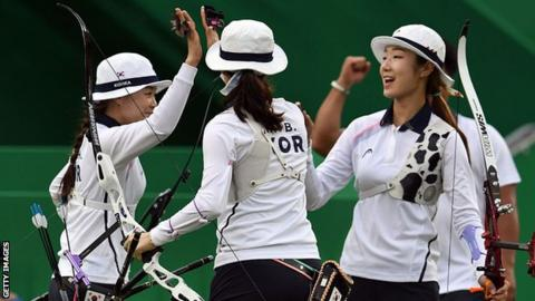 South Korea women's archery team