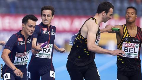 France and Belgium also qualified for the 4x400m relay final in Bydgoszcz