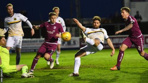 Craig Barr forced home a late goal to give Dumbarton victory at Gayfield
