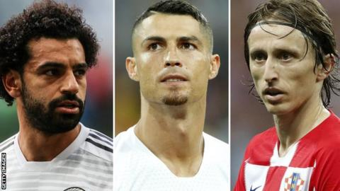Ronaldo, Salah and Modric nominated for Federation Internationale de Football Association  best player award
