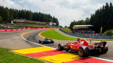 Spa-Francorchamps track in Belgium