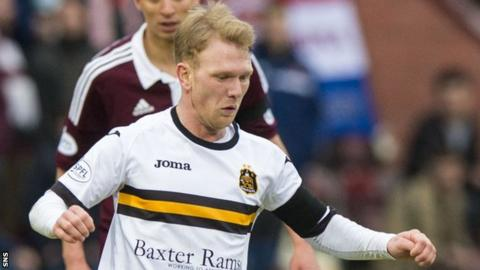 Scott Agnew in action for Dumbarton
