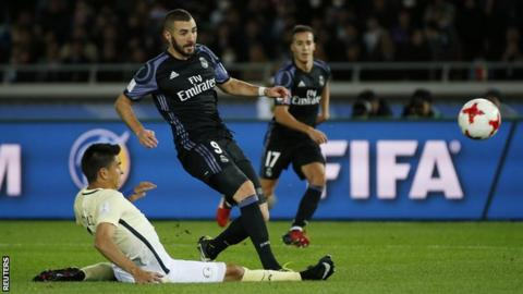 Real Madrid striker Karim Benzema