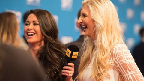Sam Quek and Rebecca Adlington