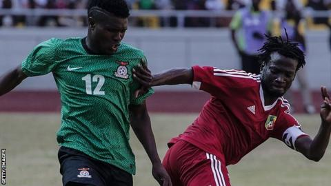 Zambia in action against Congo in the 2017 Nations Cup qualifiers