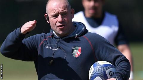 Richard Cockerill during Leicester Tigers training