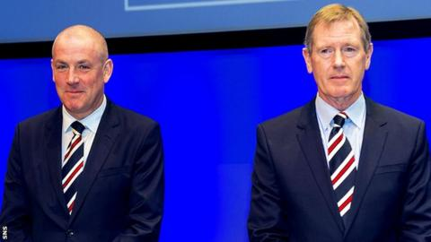 Mark Warburton and Rangers chairman Dave King