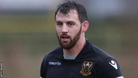 Tom Wood in Northampton Saints training