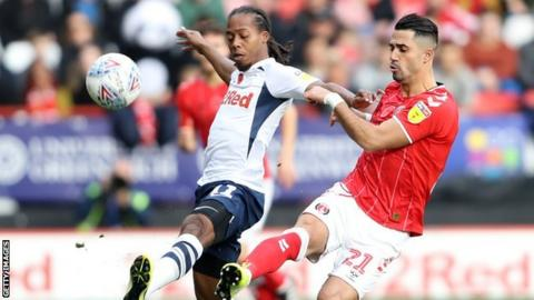 Beram Kayal, right, playing for Charlton