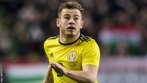 Ryan Fraser won his third Scotland cap in the 1-0 win in Hungary in March