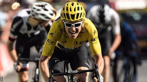 cc3e8e088 Tour de France  Geraint Thomas wins back-to-back stages to retain ...