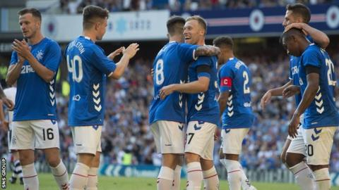 Rangers' new kit is made by Danish company Hummel