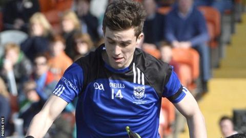 St Pat's Maghera's Shane McGuigan starred in the Hogan Cup semi-final win over Summerhill in Enniskillen