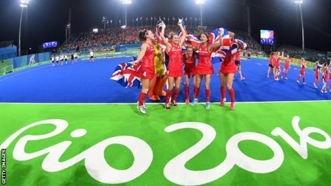 Team GB celebrate