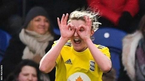 Ellen White scored a goal in each half at Haig Avenue