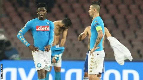 Napoli go into their final Champions League Group B game as leaders but could be eliminated if they lose to Benfica in Lisbon.