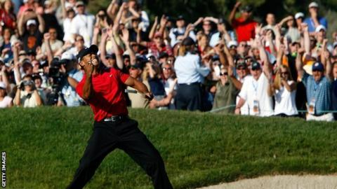 Tiger Woods at the US Open in 2008