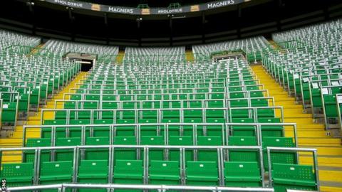 Safe standing seats at Celtic Park