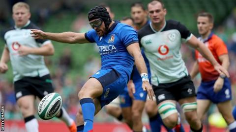 Ian McKinley in action for Italy against Ireland in Dublin last August