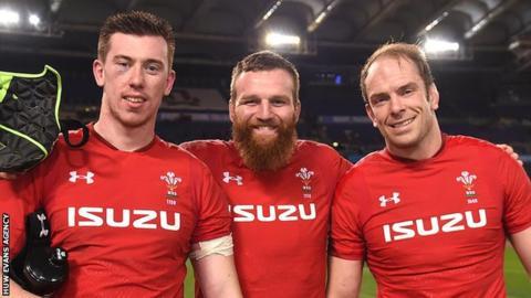 Wales locks Adam Beard, Jake Ball and Alun Wyn Jones