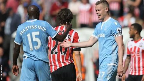 Bruno Martins Indi and Ryan Shawcross played alongside each other 32 times for Stoke City last season, including the final-day victory at Southampton