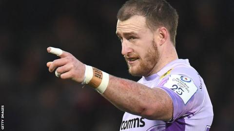 Stuart Hogg in action for Exeter Chiefs
