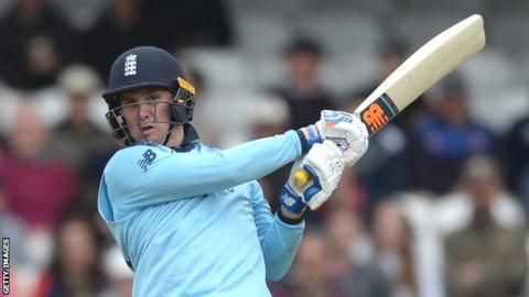 Jason Roy hits a shot