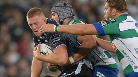 Lloyd Ashley in action for the Ospreys