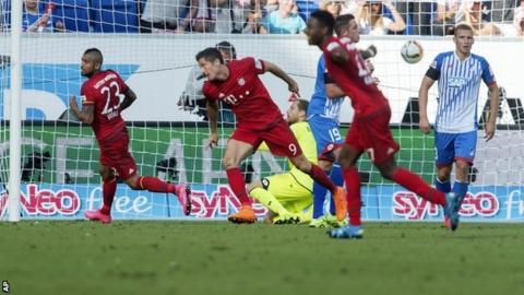 Bayern Munich celebrate goal