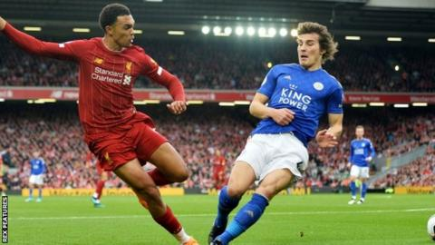 Premier League: Leicester v Liverpool to kick-off at 20:00 GMT for Amazon showing