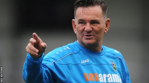 Sutton United manager Paul Doswell