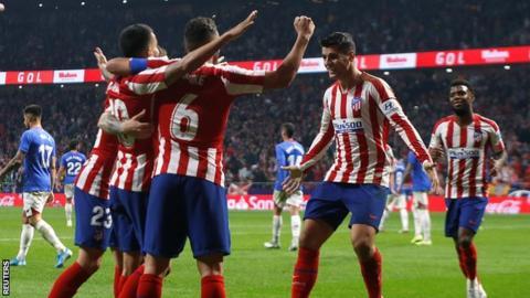 Alvaro Morata celebrates goal