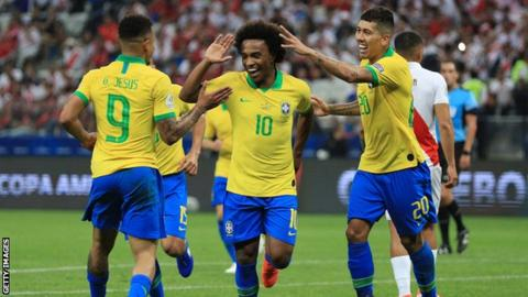 Brazil keep cool in shootout to make Copa America semis