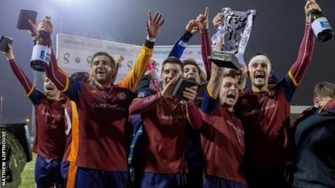 Cardiff Met players celebrate