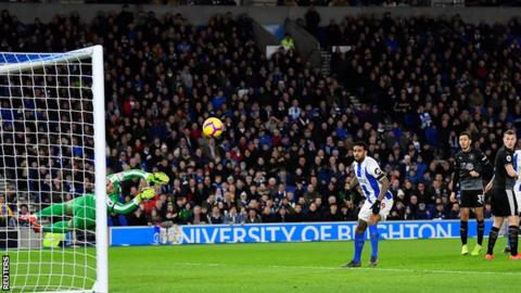Brighton & Hove Albion 1-3 Burnley: Chris Wood double helps