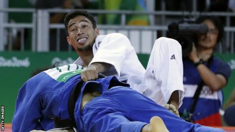 Ashley McKenzie competing at the Rio Olympic Games