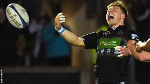 George Horne scored Glasgow's fifth try against Cardiff to wrap up the 33-24 win