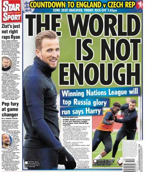 The Daily Star's back page on Wednesday