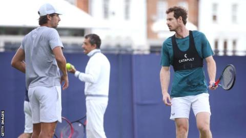 Andy Murray's comeback halted by darkness at Queen's Club
