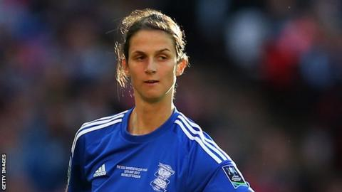 Abbey-Leigh Stringer plays for Birmingham City in the 2017 Women's FA Cup Final at Wembley