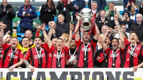 Crusaders beat Ballinamallard in the Irish Cup final to seal their Europa League place